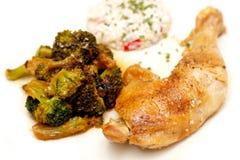 brokułu kurczak fotografia stock