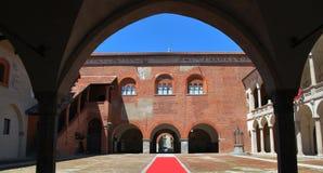 broletto Novara pałac zdjęcia stock
