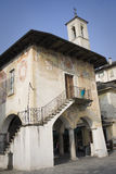 Broletto: old building in orta san giulio Royalty Free Stock Images