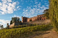 Brolio城堡chianti 免版税图库摄影
