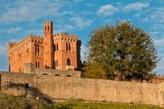 Brolio城堡chianti 库存照片