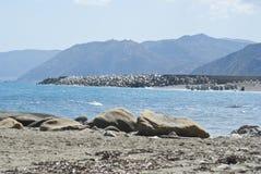 Brolo beach, Messina, Sicily Royalty Free Stock Photo