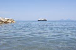 Brolo strand, Messina, Sicily Fotografering för Bildbyråer