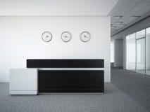 Bürolobby mit einem Aufnahmeschreibtisch Lizenzfreies Stockfoto