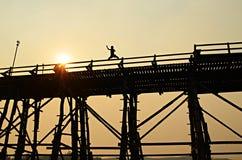 bromåndag solnedgång Arkivbilder