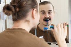 Broma coloreada de abril del cepillo de dientes Fotografía de archivo libre de regalías