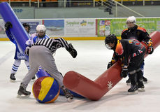 Broma del hockey Foto de archivo libre de regalías