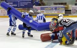 Broma del hockey Imagen de archivo libre de regalías