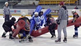Broma del hockey Imágenes de archivo libres de regalías