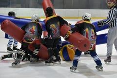 Broma del hockey Fotos de archivo libres de regalías