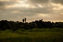 Bromancing石头 库存图片