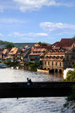 bromed över floden Royaltyfria Bilder