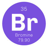 Bromine chemical element Stock Image