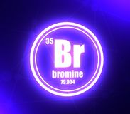 Bromine chemical element. royalty free illustration