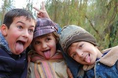 Bromistas felices Fotografía de archivo