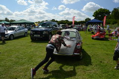 BROMLEY, LONDON/UK - JUNE 07 : BROMLEY PAGEANT of MOTORING. The biggest one-day classic car show in the world! June 07 2015 in Bro Royalty Free Stock Image