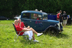 BROMLEY LONDON/UK - JUNI 07: BROMLEY-LYSANDE FESTSPEL av BILISMEN Störst en-dag den klassiska bilshowen i världen! Royaltyfri Foto