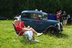 BROMLEY, LONDON/UK - 07 JUNI: BROMLEY SPECTAKEL VAN AUTORIJDEN De grootste eendaagse klassieke auto toont in de wereld! Royalty-vrije Stock Foto
