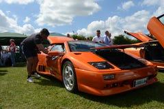 BROMLEY, LONDON/UK - 07 JUNI: BROMLEY SPECTAKEL VAN AUTORIJDEN De grootste eendaagse klassieke auto toont in de wereld! 07 juni 2 Stock Afbeelding