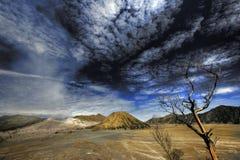 bromo东部印度尼西亚Java挂接火山 库存图片