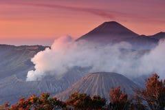 Bromo国家公园, Java火山  库存图片