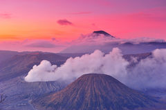 Bromo国家公园, Java火山  免版税库存照片