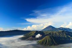 Bromo山在腾格尔塞梅鲁火山国家公园 库存图片