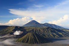 Bromo山在腾格尔塞梅鲁火山国家公园 库存照片