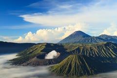 Bromo山在Tengger Semeru国家公园 库存照片