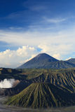Bromo山在Tengger Semeru国家公园 库存图片