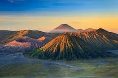 Bromo火山山在Tengger Semeru国家公园 免版税图库摄影