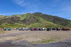 Bromo腾格尔塞梅鲁火山NP, JAVA/INDONESIA - 4月 库存图片
