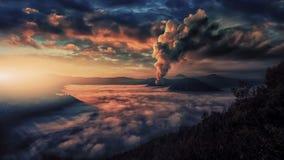 Bromo,腾格尔,塞梅鲁火山国家公园 免版税库存照片