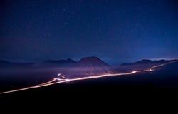 Bromo夜 库存图片
