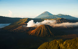 Bromo, an active volcano in Indonesia, Java ilsand Stock Image