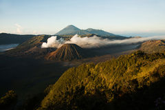 Bromo, an active volcano in Indonesia, Java island Stock Photos