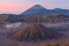 Bromo , Batok, and Semeru view Royalty Free Stock Images