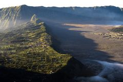 Bromo cliff in the morning royalty free stock images