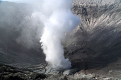Bromo Crater. Crater of Gunung Bromo volcano in Jawa royalty free stock photos