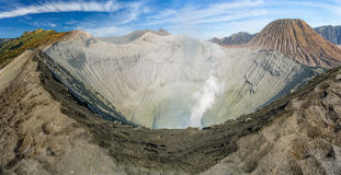 Bromo crater panorama Royalty Free Stock Images