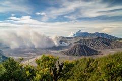 Bromo después de la erupción Fotos de archivo libres de regalías