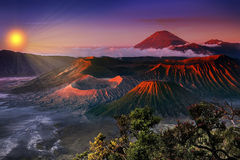 Bromo Indonesien Royaltyfria Bilder