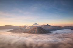 Bromo montain close-up Stock Images