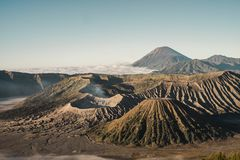 Bromo mountain breath stock photos