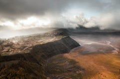 Bromo mountain Indonesia. On eruption Royalty Free Stock Photos