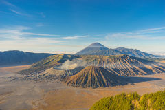 Bromo mountain in the morning. Bromo volcano mountain in the morning, Indonesia Royalty Free Stock Photo