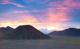 Bromo Mountain Region National Park Indonesia Stock Image