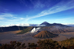 Bromo mountain scenery Royalty Free Stock Photography