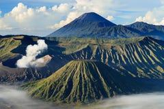 Bromo Mountain in Tengger Semeru National Park. East Java, Indonesia Royalty Free Stock Images