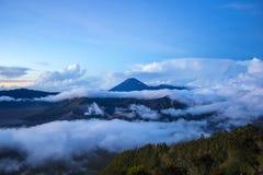 Bromo Mountain in Tengger Semeru National Park. At sunrise, East Java, Indonesia Royalty Free Stock Images